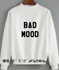 Womens Sweaters Sale Bad Mood Fashion Black and White Sweatshirt