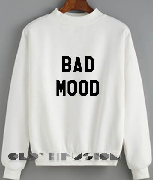 Womens Sweaters Sale Bad Mood Fashion Black and White Sweatshirt