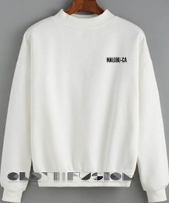 Malibu CA Sweatshirt Lyrics – Adult Unisex Size S-3XL