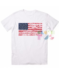 American Flag Meridian Line Custom T Shirt Design Ideas – Adult Unisex Size S-3XL