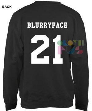 Twenty One Pilots Blurryface 21 Sweatshirt – Adult Unisex Size S-3XL