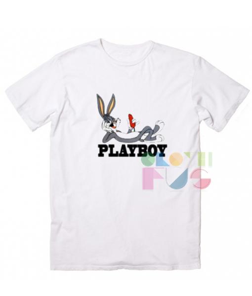 bugs bunny playboy custom t shirt design ideas adult unisex size s 3xl - White T Shirt Design Ideas