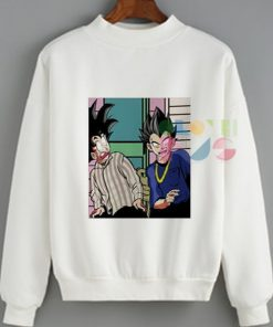 Womens Sweater Goku And Vegetta Funny Outfit Of The Day - OOTD