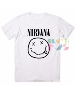 Nirvana Logo White Quote T Shirt – Adult Unisex Size S-3XL
