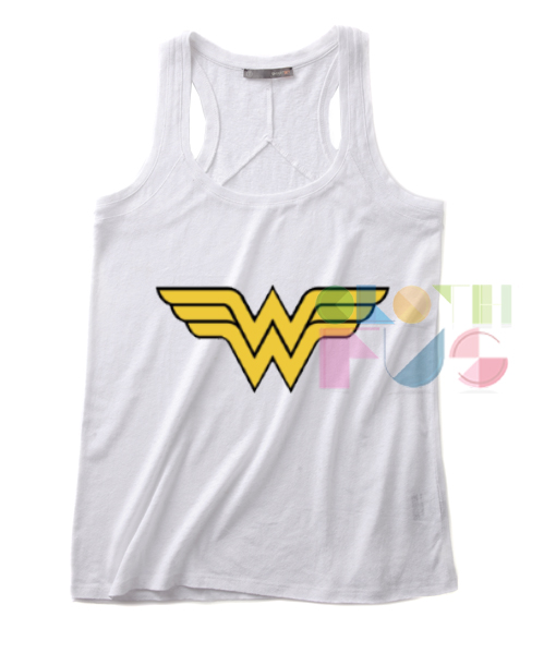 Wonder Woman Logo Quotes Tank Top – Adult Unisex Size S-3XL