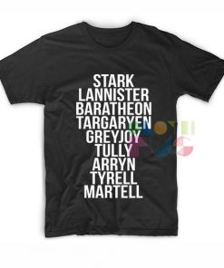 Game of Thrones Houses Shirts