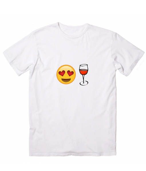 Love Wine Emoji Tshirts
