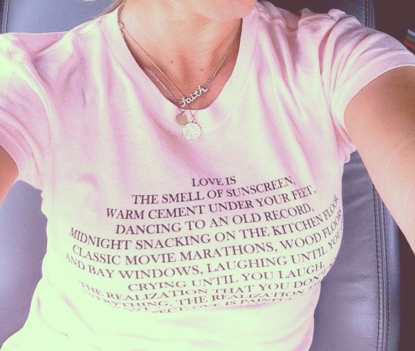 Love is the Smell of Sunscreen Customized Shirts