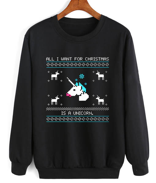 9a430daaee92 All I Want For Christmas Is A Unicorn Funny Christmas Sweaters