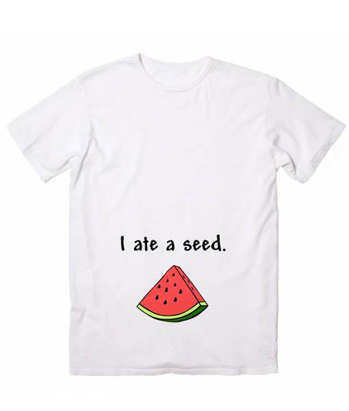i ate a seed christmas maternity shirt - Maternity Christmas Shirts