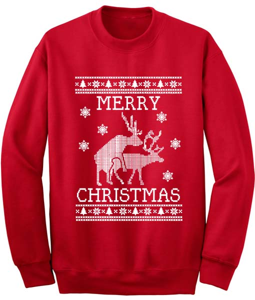 291922359fc Reindeer Humping Ugly Christmas Sweater Clothfusion