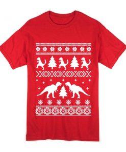 T Rex Ugly Christmas T Shirt