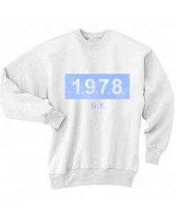 1978 NY Logo Sweatshirt Quotes Sweater