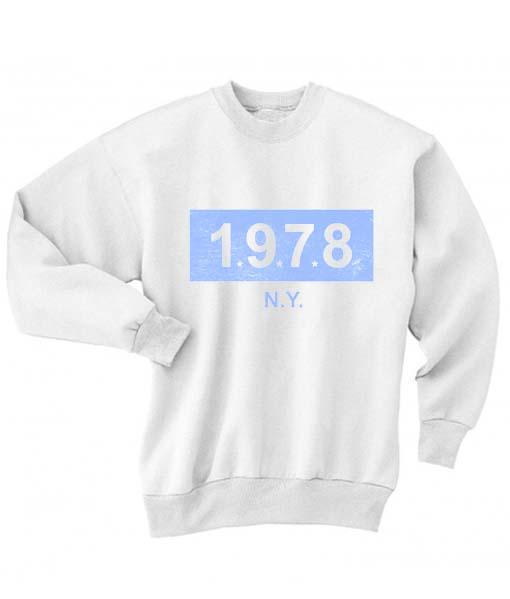 1978 NY Logo Sweatshirt Quotes Sweater