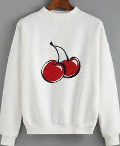 Cherry Cute Women Sweatshirt Quotes Sweater