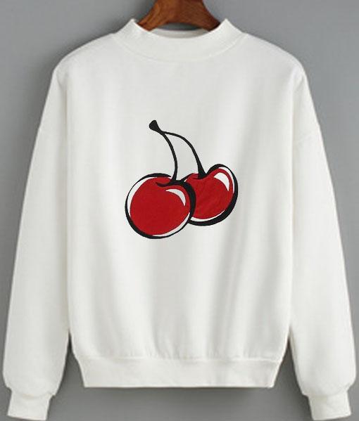 Cherry Cute Women Sweatshirt Quotes Sweater
