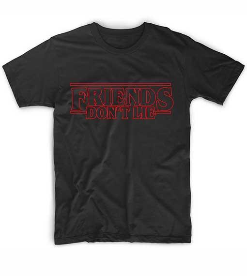 Stranger Things Friends Don't Lie School T-Shirt
