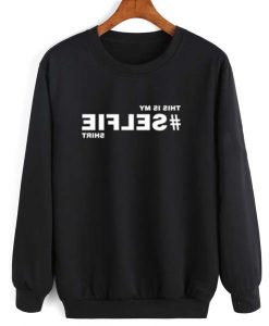 Hashtag Selfie Shirt Long Sleeve T-Shirt Nerd Sweater