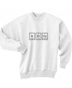 NErDy Shirt Long Sleeve T-Shirt Nerd Sweater