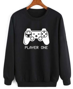 Player One Game Console Sweatshirt Quotes Sweater