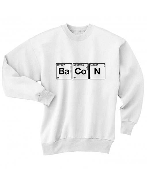 Science Meet Bacon Long Sleeve T-Shirt Nerd Sweater