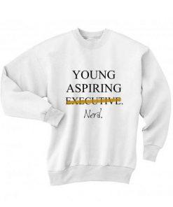 Young Aspiring Nerd Long Sleeve T-Shirt Nerd Sweater