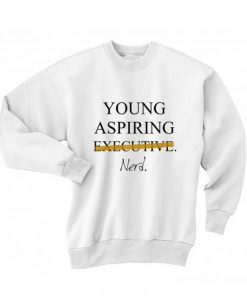 Young Aspiring Nerd Long Sleeve T-Shirt Nerd Sweater