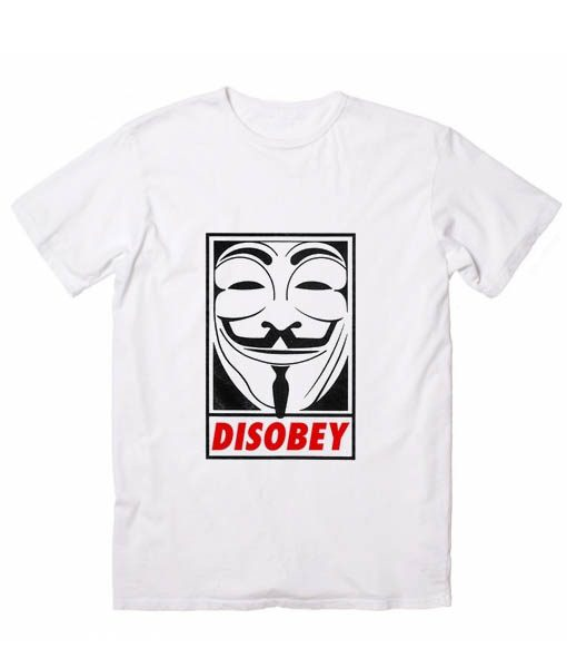 Anonymous Disobey Men And Women Fashion T Shirt Custom Tees