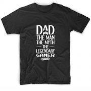 Dad The Man The Myth The Legendary Gamer T Shirt Custom Tees