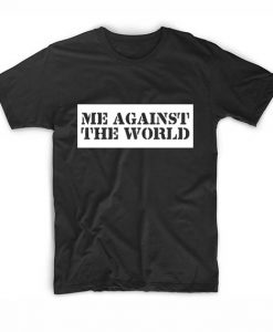 Me Against The World Tupac T shirt Design Clothfusion