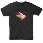 Sushi Sleeps Men And Women Fashion T Shirt Custom Tees
