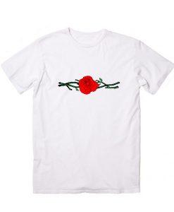 Twigs Rose Men And Women Fashion T Shirt Custom Tees