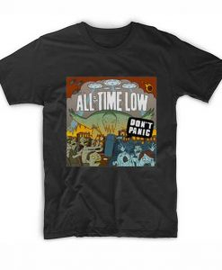 All Time Low T Shirt Don't Panic T-Shirt