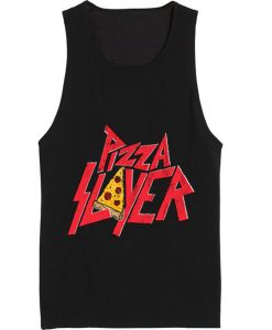 Pizza Slayer Summer Funny Quote Tank top
