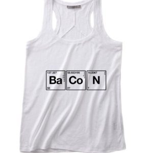 Science Meet Bacon Summer Funny Quote Tank top