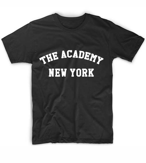 The academy new york t shirt custom shirt clothfusion tees for T shirt screen printing nyc