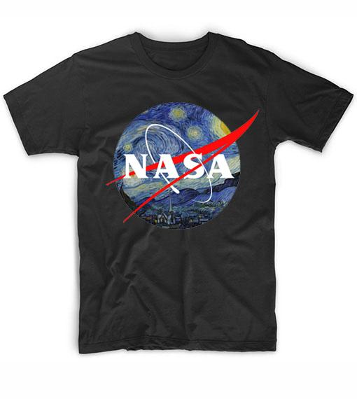 Nasa Van Gogh Logo T-Shirt