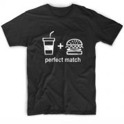 Perfect Match Burger and Soda T-Shirt