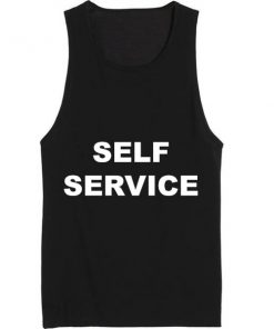 Self Service Summer Funny Quote Tank top