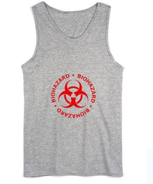Red Biohazard Symbol Summer Tank top