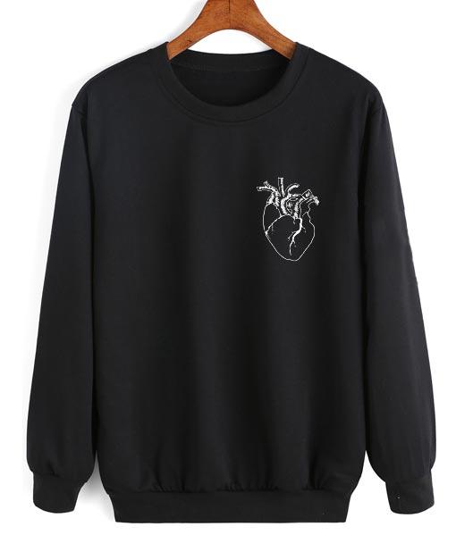 Heart Logo Sweater Funny Sweatshirt