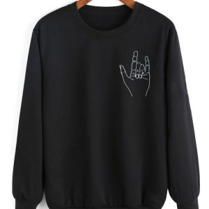 Metal Hand Sweater Funny Sweatshirt
