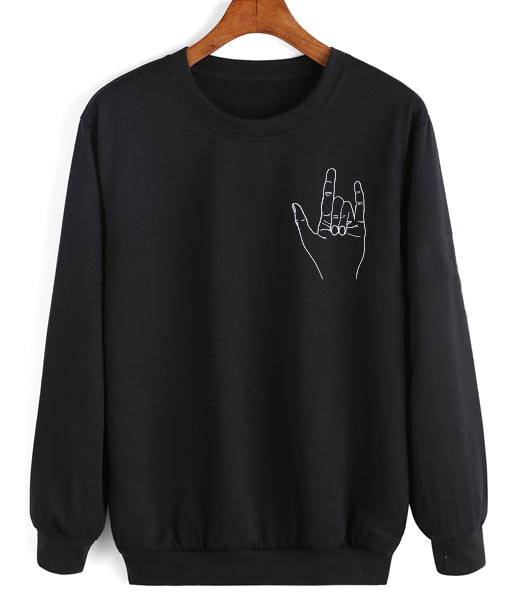 Metal Hand Sweater Funny Sweatshirt