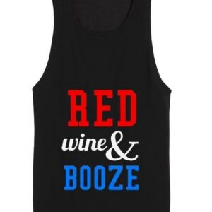 Red Wine And Booze 4th July Tank top
