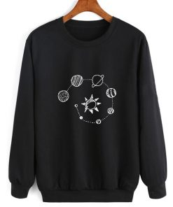 Solar System Chalk Art Sweater Funny Sweatshirt