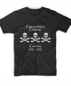 Captain Christopher Condent T-Shirt Custom T Shirts No Minimum. Compass and Blade Captain's Tees Shirt, Manga Funny Movie Quotes