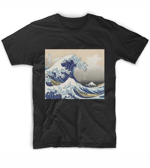 ebbbfac26d7e The Great Wave off Kanagawa T-Shirt Custom T Shirts No Minimum. Wave Tees
