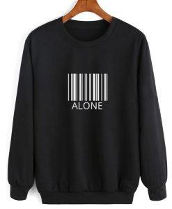 Alone Barcode Sweater