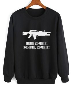 Ar 15 Here Zombie Sweater