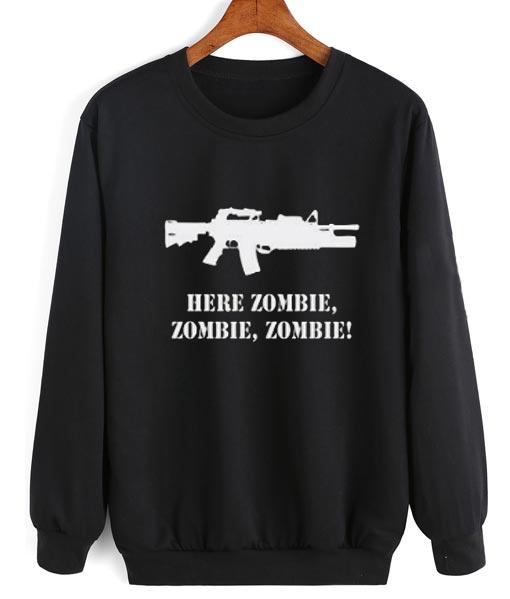 Ar 15 Here Zombie Sweater